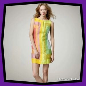 Tracy Reese Color Block Shift Dress